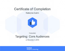 Facebook. Targeting Core Audiences